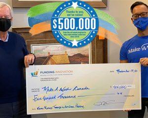 Celebrating a $500,000 Milestone