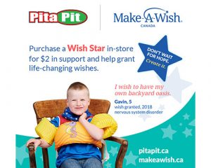 Pita Pit Continues To Support Life-Changing Wishes